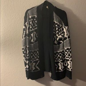 Mossimo XL sweater chunky black and white.